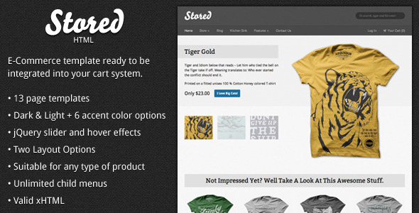 Stored  - HTML Ecommerce Template