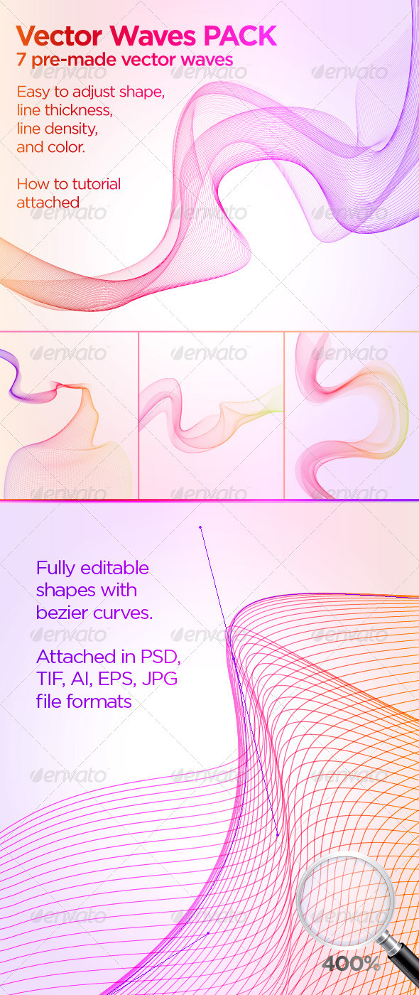 GraphicRiver Vector Waves Pack 1264184