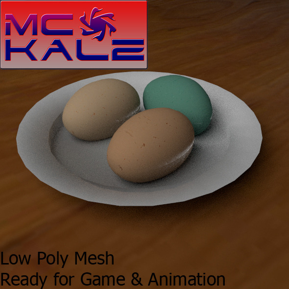 3 Different Egg - 3DOcean Item for Sale