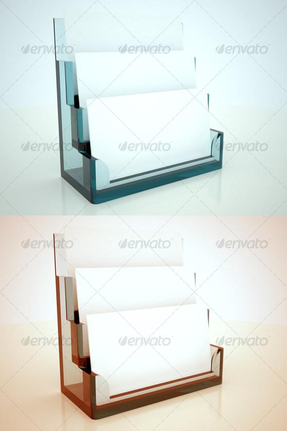 GraphicRiver Glass Tri-Card Holder 35366