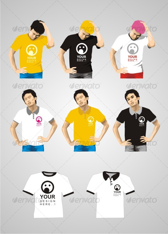 T Shirt and Polo Shirt - Commercial / Shopping Conceptual