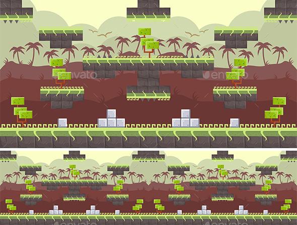 Platform Game Background (Backgrounds)