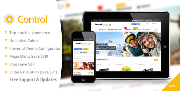 Control - PrestaShop Theme Responsive + Included Blog