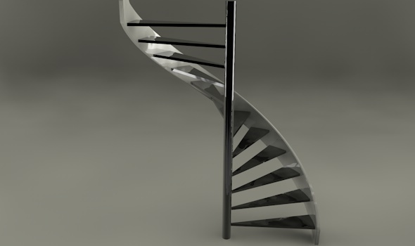 Helix stair case - 3DOcean Item for Sale