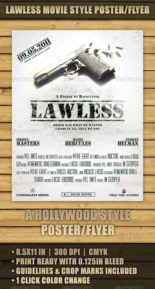 Lawless Movie Style Poster/Flyer - Miscellaneous Events