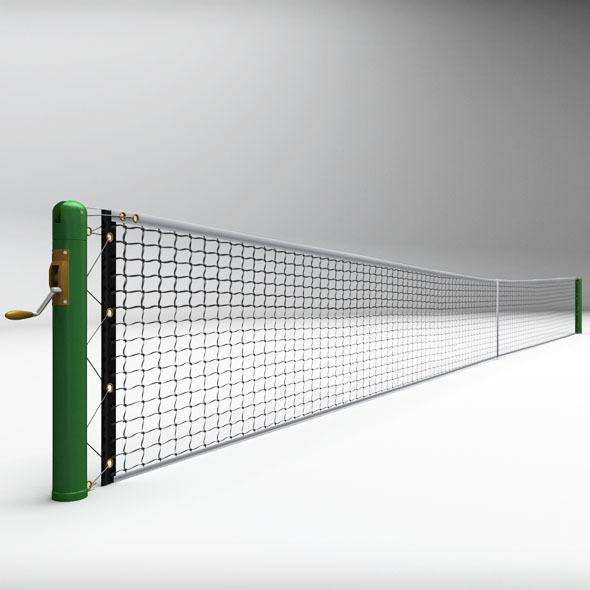 Tennis court net high detail - 3DOcean Item for Sale