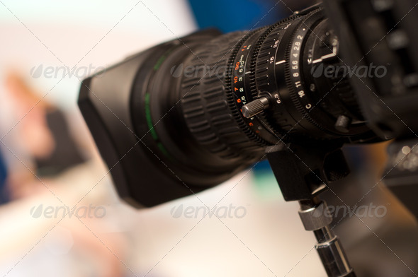 digital video camera lens - Stock Photo - Images