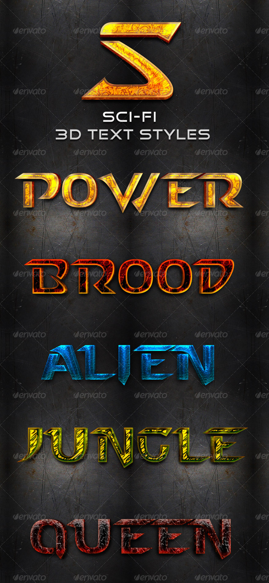 Sci-Fi 3D Text Styles