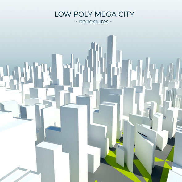Low Poly Mega City - 3DOcean Item for Sale