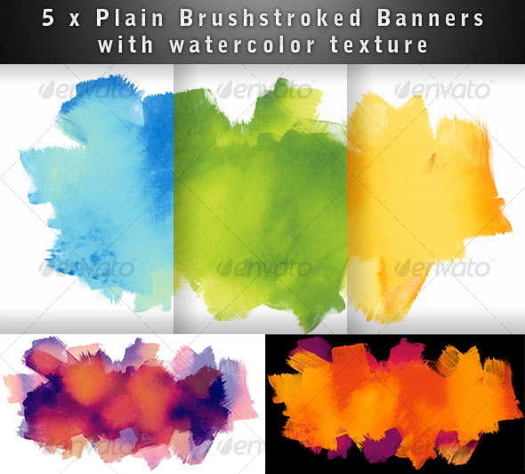 GraphicRiver Brushed Watercolor Textured Banner 51078
