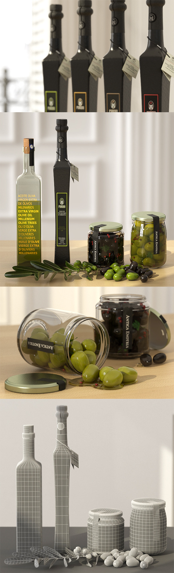 Olive and Oil set - 3DOcean Item for Sale