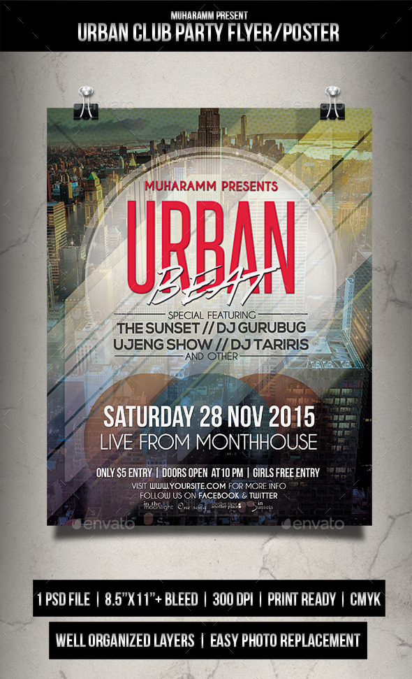 Urban Club Party Flyer / Poster