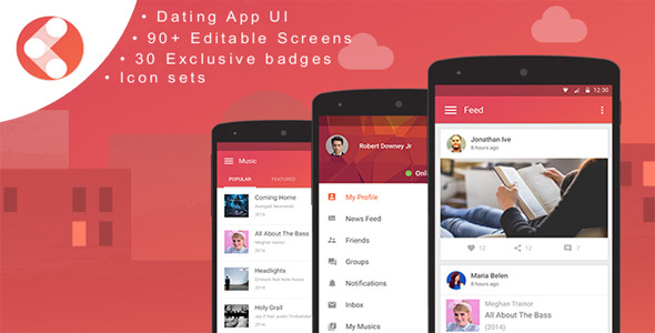 Mobile dating app template