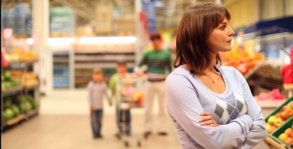 In supermarket