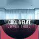 Cool & Flat Lower Third