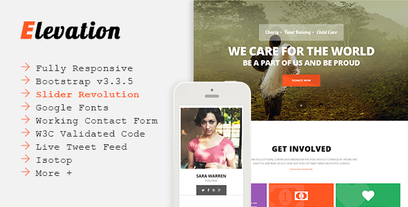 ELEVATION - Charity/Nonprofit/Fundraising Template