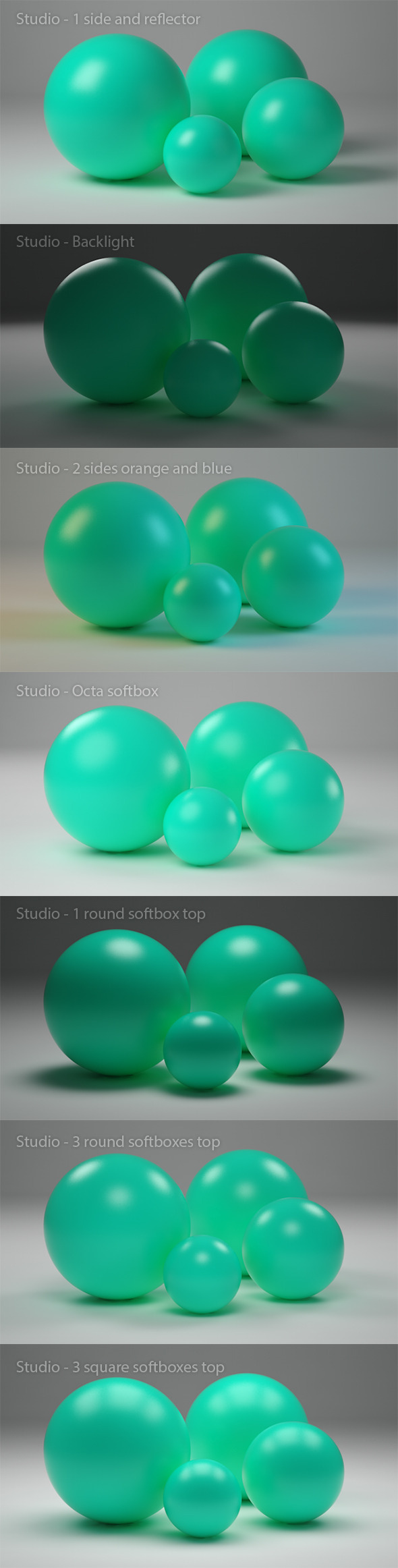 Cinema 4D studio with 7 variations - 3DOcean Item for Sale