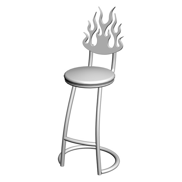 Wrought Iron Chair 02 - 3DOcean Item for Sale
