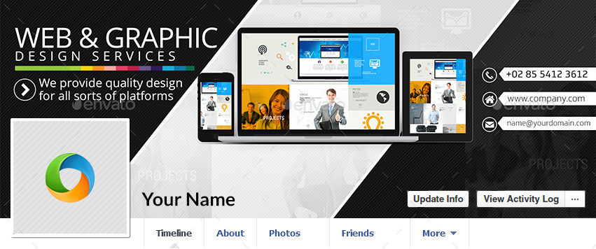Web design facebook covers 5 color variations by doto for Design ideas facebook