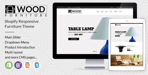 Parallax Shopify Theme - Wood Furniture Decoration