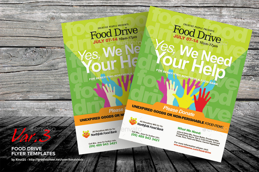 Food Drive Flyer Template by kinzishots | GraphicRiver