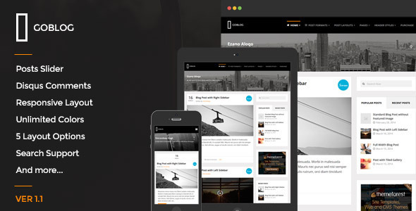 GoBlog - Responsive Ghost Blog Theme