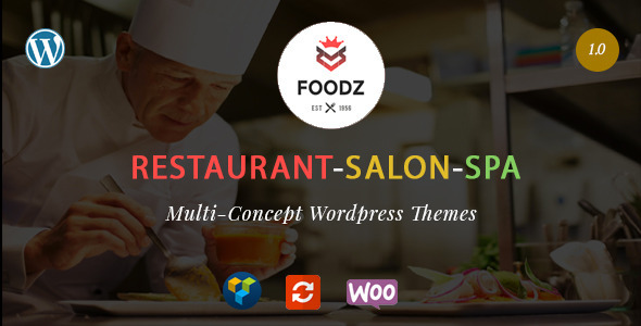 Foodz - Restaurant, Spa & Salon Wordpress Theme