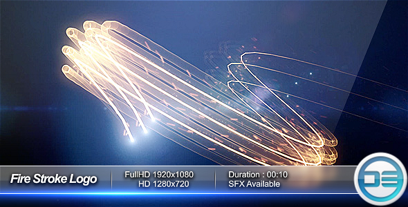 After Effects Project - VideoHive Fire Stroke Logo 111875