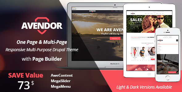 AVENDOR - Responsive Multi-purpose Drupal Theme