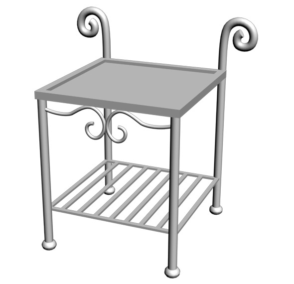 Wrought Iron Table - 3DOcean Item for Sale