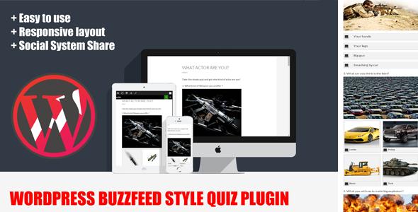 Wordpress BuzzFeed Style Quiz Plugin