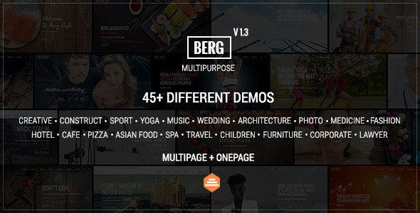 Berg - Multipurpose One Page & Multi Page Theme
