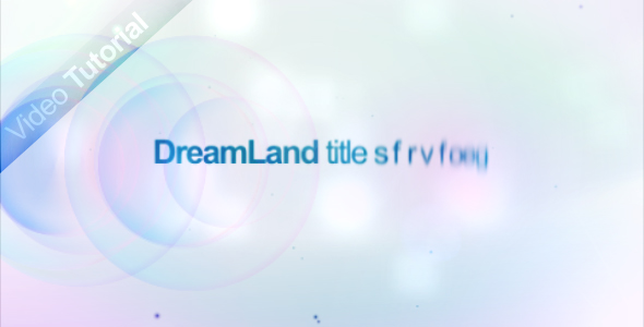 After Effects Project - VideoHive Dream land 118523