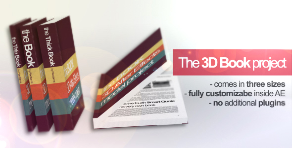 After Effects Project - VideoHive 3D Book Mock-up Project 89389
