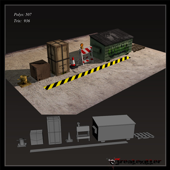 3DOcean Game ready Props 1279583