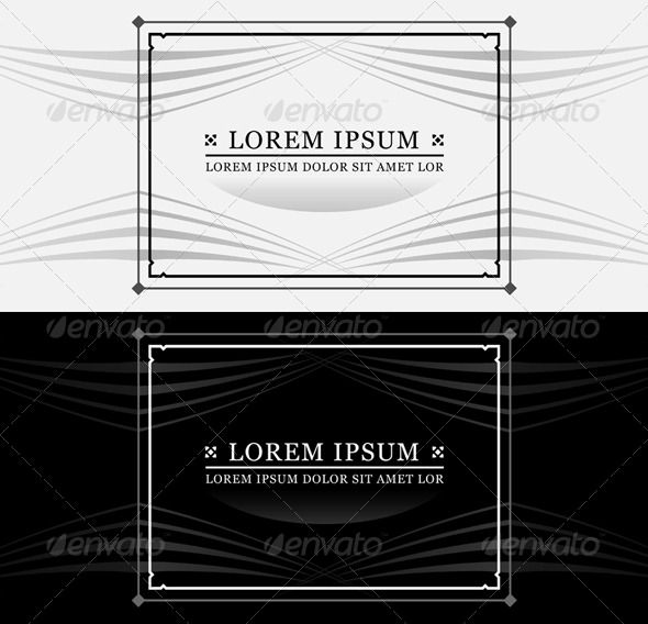 Ornate Frame and Text - Decorative Vectors