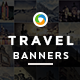 Travel & Tourism HTML5 Banners -7 Sizes