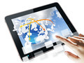 hand pushing on a touch screen interface - PhotoDune Item for Sale