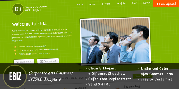EBIZ - Corporate and Business HTML Template -