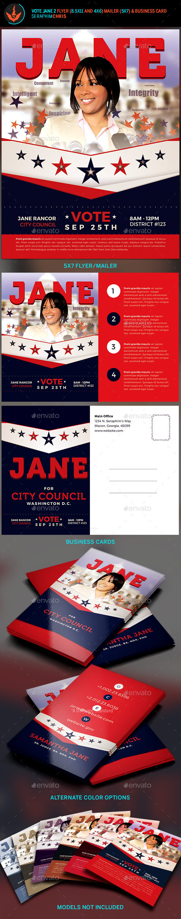political business card graphics designs & templates