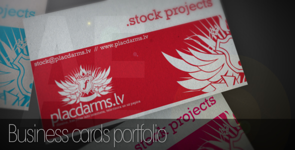 After Effects Project - VideoHive Business cards mock-up 63932