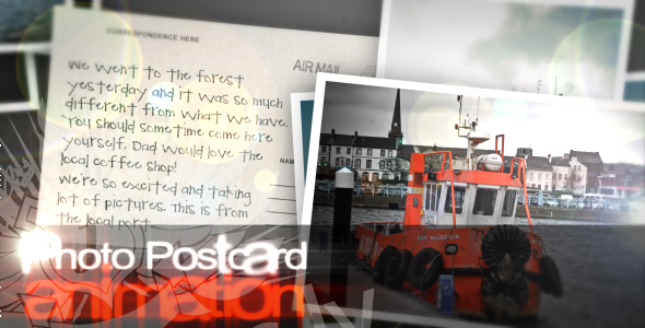 After Effects Project - VideoHive Photo Postcards 58425