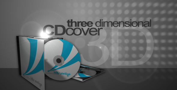 3D CD cover mock-up
