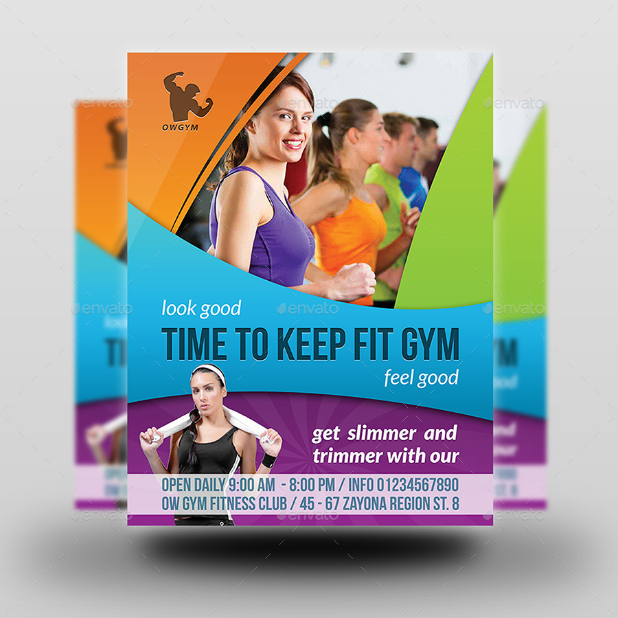 Free Fitness Gym Flyer Template Psd Files And Free Church: GYM Flyer Template Vol.3 By OWPictures