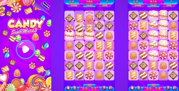 Candy Match3 - HTML5 Mobile Game (Capx)