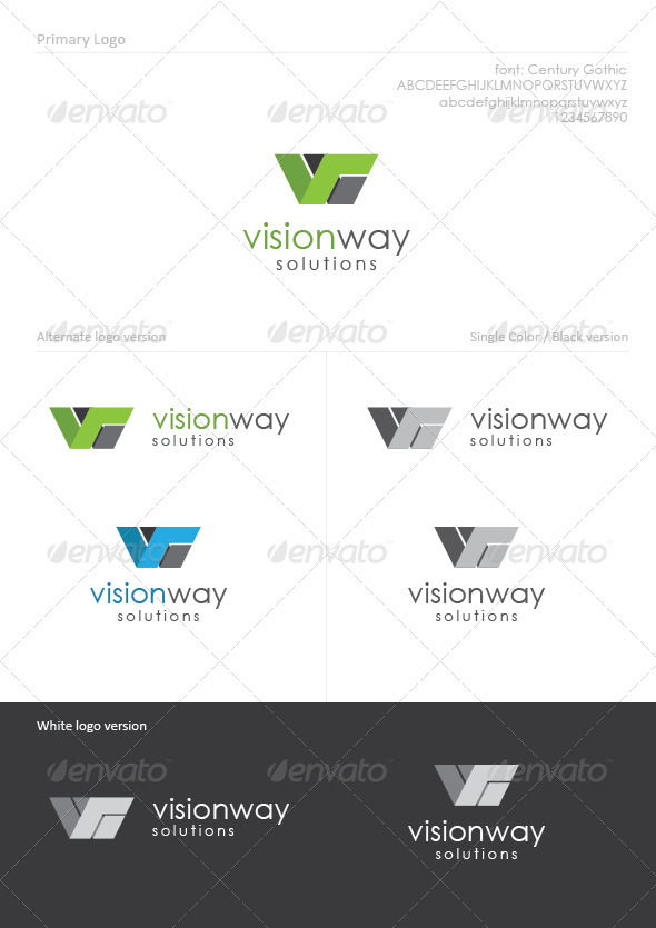 Vision Way - Letters Logo Templates