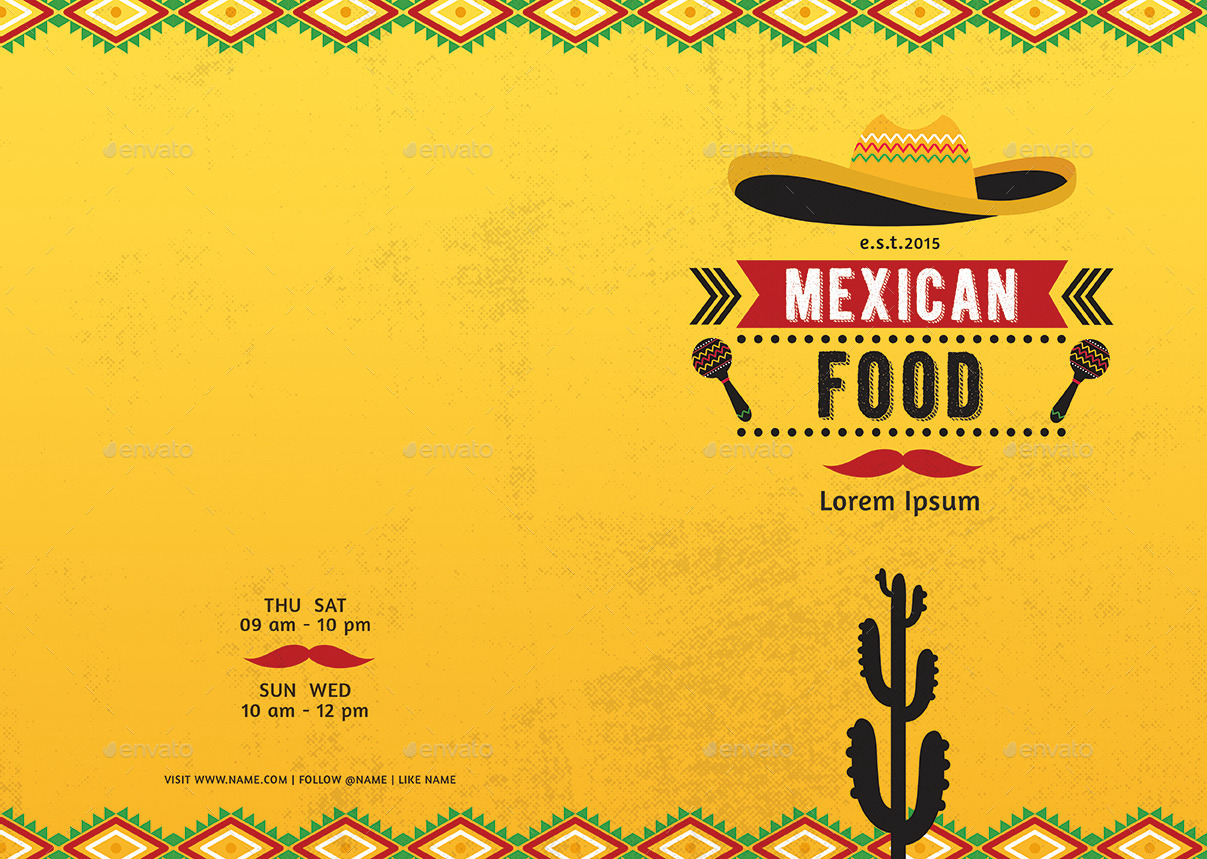 Mexican food menu by d s graphicriver for Mexican themed powerpoint template