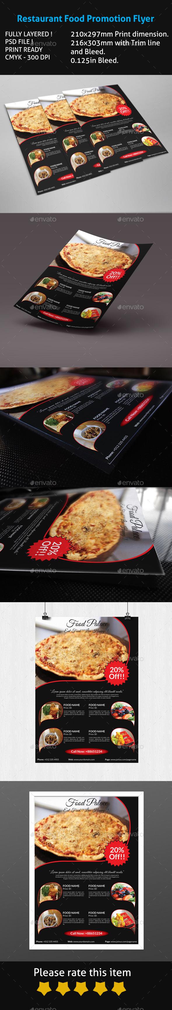 Restaurant Food Promotion Flyer
