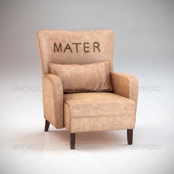 3DOcean Mater armchair 154207