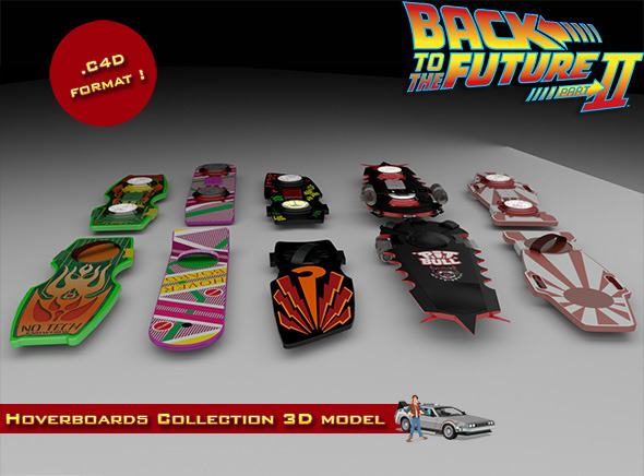 3DOcean BTTF Hoverboards Collection 12799815